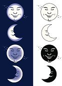 Moon,Human Face,Half Moon,Man in the Moon,Insomnia,Sleeping,Lunar Eclipse,Tired,Vector,Night,Dreamlike,Full Moon,Star - Space,Checking the Time,Moonlight,Space,Blue,Star Shape,Sky,Urgency,Ilustration,Smiling,Planet - Space,Midnight,Working Late,Purple,Characters,Imagination,Illustrations And Vector Art,Time,Concepts And Ideas,Shiny,Dusk,Dark