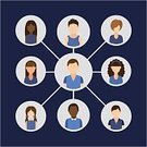 Connect,People,Occupation,Teamwork,Ideas,Community,Symbol,Advice,Design,Concepts,Connection,Social Issues,Communication,Diagram,Built Structure,Global,Vector,Marketing,Ilustration