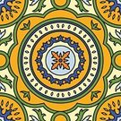 Spanish Culture,Tile,Seamless,Pattern,Decoration,Design,Ceramics,Blue,Multi Colored,Ornate,Backgrounds,Mosaic,Cultures,Portuguese Culture,Design Element,Mexican Culture,Abstract,Geometric Shape,Orange Color,Vector,Yellow,Wallpaper Pattern,Mexico,Islam,Floral Pattern,Flower,Green Color,Ilustration,Flooring