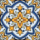 Decoration,Tile,Spanish Culture,Mexico,Mexican Culture,Seamless,Ceramics,Multi Colored,Ornate,Blue,Pattern,Orange Color,Yellow,Vector,Design,Abstract,Backgrounds,Flower,Mosaic,Portuguese Culture,Cultures,Wallpaper Pattern,Islam,Ilustration,Flooring,Floral Pattern,Geometric Shape,Design Element