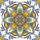 Tile,Mexican Culture,Mexico,Seamless,Backgrounds,Spanish Culture,Flower,Floral Pattern,Multi Colored,Ornate,Ceramics,Decoration,Wallpaper,Pattern,Vector,Orange Color,Abstract,Blue,Mosaic,Geometric Shape,Flooring,Design Element,Design,Ilustration,Islam,Wallpaper Pattern,Cultures,Portuguese Culture,Yellow