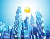 Finance,Skyscraper,Office Building,Ilustration,Modern,Building Exterior,Futuristic,Facade,Downtown District,Looking,Residential District,City Life,Window,Vector,Design,Tower,Sky,Outdoors,Business,Reflection,Large,Urban Skyline,Tall,Moving Up,Architecture,Blue,Urban Scene,City,Construction Industry,Built Structure,Cityscape