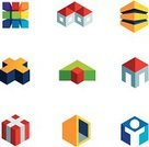 Built Structure,Business,Three Dimensional,Three-dimensional Shape,Box - Container,Vector,Abstract,Ideas,House,Application Software,Ilustration,Isolated,Multi Colored,Technology,Star Shape,Computer,Apartment,Residential Structure,Design,Symbol,Computer Icon,Star - Space,Design Element,Set,People