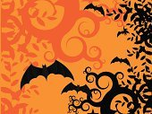 Halloween,Bat - Animal,Backgrounds,Horror,Spooky,Grunge,Modern Rock,Dirty,Flying,back ground,Orange Color,Holidays And Celebrations,Halloween,Illustrations And Vector Art,Black Color,Vector,Abstract
