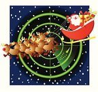 Santa Claus,Christmas,Radar,Sled,Flying,Surveillance,Reindeer,Rudolph The Red-nosed Reindeer,Pursuit - Concept,Vector,Riding,Searching,Riding,Holidays And Celebrations,Christmas,Gift,Ilustration,Holiday,Snow