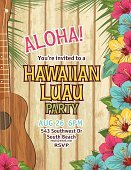 Hawaiian Culture,Luau,Invitation,Surfing,Flower,Single Flower,Backgrounds,Aloha,Costume,Big Island,Hawaii Islands,Beach,Party - Social Event,Ukelele,Music,Single Word,template,Plant,Greeting,Ilustration,Typescript,Greeting Card,Wood - Material,old wood,Hibiscus,Event,Text,Vector,Copy Space