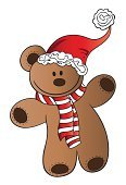 Christmas,Teddy Bear,Stuffed Toy,Design Element,Multi Colored,Cartoon,Red,Bear,Humor
