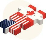 Canada,USA,Puzzle,Global Communications,American Flag,Attached,Group Of 20,Canadian Culture,Business Travel,Politics,Community,Solution,Unity,Jigsaw Piece,Digitally Generated Image,Flag,nation,Isolated On White,Sharing,Teamwork,isolated objects,countries,National Flag,Communication,3d render,Ideas,Three Dimensional,Link,Color Image,G20,Government,White Background,Travel,Connect the Dots,Computer Graphic,Jigsaw Puzzle,Canadian Flag,Concepts,Cultures,Three-dimensional Shape,Partnership,Bonding,Industry,Business,Togetherness,Connection,Group of Objects,Cooperation