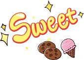 Sweet Food,Drink,nosh,Snack,Ice Cream,Cookie,Color Image,Clip Art,Ilustration,Art Product