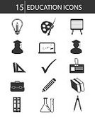 Symbol,Desk,Inventor,Teaching,Blackboard,Learning,Professor,True,Education,Clock,Thinking,Collection,Sign,Ilustration,Teacher,Library,University,High Angle View,Book,Student,Graduation,Ballpoint Pen,Electric Lamp,Tower,Nerd,Vector