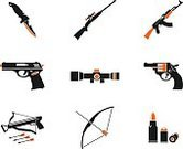 Symbol,Computer Icon,Gun,Handgun,Hunting,Bow,Icon Set,Cross Bow,Protection,Defending,Military,Army,Rifle,Sport,Patron Tequila,Optical Sight,Blade,Self-Defense,vector icons,Dagger,Weapon,Cartridge Case,Knife,Interface Icons,Vector,Ilustration,Simplicity,Silhouette
