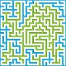 Maze,Backdrop,Maze Puzzle,Blue,Backgrounds,Vector,Abstract