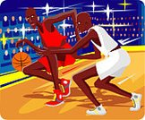 Basketball,Basketball - Sport,Sport,Professional Sport,Athlete,Speed,Illustrations And Vector Art,Performance,Team,Ball,Playing,Vector,Weekend Activities,Exhibition,Showing,Aggression