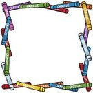 Crayon,Clip Art,Vector,Multi Colored,White Background,Cartoon,Frame,Picture Frame