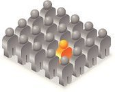 Individuality,Standing Out From The Crowd,Contrasts,Crowd,Isometric,Leadership,Men,Group Of People,Computer Icon,Group of Objects,Teamwork,Vector,Team,Ilustration,Business Concepts,Objects/Equipment,Business