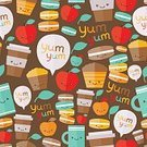 yummy,Pattern,Macaroon,Healthy Eating,Bubble,Fruit,Cute,White,Vector,Espresso,Wrapping Paper,Human Hand,Ilustration,Domestic Kitchen,Drawing - Art Product,Seamless,Sweet Food,Cupcake,Mug,Latte,Single Object,Image,Macaroni,Coffee - Drink,Ornate,Decoration,Paper,Cup,Design,Cappuccino,Computer Graphic,Tea - Hot Drink,Textile,Wallpaper Pattern,Speech,Animal Hand,Pastry,Heat - Temperature,Restaurant,Design Element,Caucasian Ethnicity,Cafe,Caffeine,Muffin,Coffee Cup,Breakfast,Drink,Apple - Fruit,Painted Image,Backgrounds,Leaf