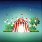 Circus,Christmas Lights,Music Festival,Circus Tent,Entertainment Tent,Tent,Moon,Dreamlike,Bird,Night,Landscape,Star Field,Fairy Tale,Architectural Styles,Amusement Park,Marquee Tent,School Carnival,Exhibition,Striped,Luminosity,Grass,Tree,Fete,Light Bulb,Bright,Summer,Classical Concert,Traditional Festival,Vector,Curtain,Meadow,Flag,Birthday,Stage Theater,Magical Equipment,Red,Dusk,Architecture,Event