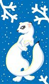 Snow,Winter,Animal,KIDS ILLUSTRATION,Ermine