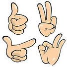 Thumbs Up,OK Sign,Human Hand,Thumb,Human Finger,Winning,Gesturing,Sign,Vector,Ilustration,Isolated On White,Communication,Communication,Concepts And Ideas,Illustrations And Vector Art
