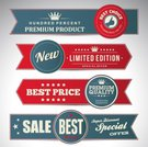 Retail,Design Element,Illustrations And Vector Art,Design,Blue,Sale,Retro Revival,Label