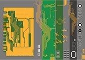 Circuit Board,Electricity,Technology,Plan,Backgrounds,Nanotechnology,Engineering,Repairing,Computer,Computer Chip,Vector,High Up,Order,Tall,PC,Science,Futuristic,Computer Part,Electronics Industry,LED,Design,Resistor,Gray,Binary Code,Orange Color,CPU,Data,Electrical Component,Green Color,Industry,Ilustration,Micro-Electro-Mechanical System,Transistor,Diode,Small,No People,Internet,Computer Port Card,Colors,Pci Card,Horizontal,Multi Colored,Colored Background,Color Image,Equipment,Illustrations And Vector Art,Vector Backgrounds,Computer Bug