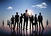 Business Person,Meeting,Back Lit,Silhouette,Occupation,People,Success,Team,Teamwork,Office Worker,Women,Businessman,Partnership,Reflection,Sky,Concepts,Organization,Group Of People,Businesswoman,Organized Group,Vector,Service,Standing,Men,Leadership,Manager,Business,Cooperation