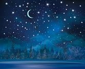 Sky,Night,Star Shape,Snow,Winter,Christmas,Moon,Moonlight,Tree,Backgrounds,Landscape,Blue,Non-Urban Scene,Glowing,Forest,Bright,Rural Scene,Cloud - Sky,Shiny,Wallpaper Pattern,Black Color,Cloudscape,Illuminated,Glitter,Space,Light - Natural Phenomenon,Horizontal,Nature,Dark