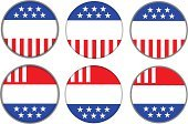 Interface Icons,Politics,American Flag,Voting,Election,President,Badge,Government,Patriotism,Star Shape,Striped,Republican Party,USA,Voter Registration,Isolated,Communication,Vote Button,Concepts And Ideas,Red,Copy Space,White,Blue,stars stripes