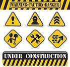 Warning Sign,Sign,Construction Site,Construction Industry,Safety,Symbol,Vector,Black Color,Building - Activity,Isolated,Striped,Blackboard,White,Yellow,Men,Silhouette,Frame,Computer Icon,Design,Alertness,Construction Barrier,Ilustration,Traffic,White Collar Worker,Repairing