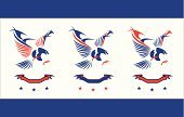 USA,Election,American Culture,Fourth of July,Vector,Blue,Red,Rebellion,Majestic,The Americas,Hawk - Bird,Striped,Badge,July,Ideas,Ilustration,Pride,Patriotism,Star Shape,National Landmark,Strength,republic,Power,Political Rally,Protest,Armed Forces,Bird,Nobility,Animals In The Wild,heraldic,Government,Independence,Unity,Military,Symbol,Mascot,Success,Freedom,Politics,Ribbon,nation,Celebration,Eagle - Bird,Number 4,Flag,Insignia,Star - Space