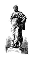 Antigone,Ancient Greece,Men,Classical Greek,Greek Culture,Greece,Ancient Civilization,Art Product,Ilustration,Engraved Image,Sophocles,One Person,Playwright,Full Length,Black And White,Theatrical Performance,Standing,Poet,Statue,The Past,Cultures,Athens - Greece,Drawing - Art Product,History,Senior Adult,Art,Artist,Ajax,White Background,Ancient,Old-fashioned,Army,Image Created 19th Century
