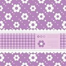 Elegance,Design,Easter,Purple,White Color,Pattern,Old-fashioned,Flower,Decoration,Backgrounds,Plaid,Ribbon - Sewing Item,Frame,Cute,Ornate,Illustration,Floral Pattern,Polka Dot,No People,Vector,Pastel Colored,Single Flower,Retro Styled