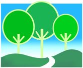 Road,Landscaped,Forest,Vector,Scenics,Landscape,Non-Urban Scene,Environment,Rural Scene,Outdoors,Woodland,Tree,Lush Foliage,Field,yonder,Illustrations And Vector Art,Nature,Above,Freshness,Loneliness,Solitude,Remote