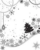 Tree,Winter,White Background,Winter Pattern,Ilustration,Color Image,Clip Art,Art Product