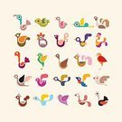 Bird,Symbol,Ornate,Flamingo,Ostrich,Animal,Goose,Baby Chicken,Parrot,Colors,Collection,Variation,Design Element,Color Image,vector icon,Business,Wildlife,Computer Graphic,Young Bird,bird vector,Set,Hummingbird,Ilustration,Isolated,Single Object,Isolated Vector,Vector,Insignia,graphic element,Turkey - Bird,Nature,Sign,Icon Set