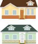 House,Ilustration,Roof,Door,Vector,New,Window,Design,No People,Simplicity,Residential Structure,Apartment,Architecture,Bungalow,Front View,Beautiful,City Life,Small,Clip Art,one floor,Building Exterior,Variation,Set,Built Structure,Outdoors