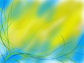 Abstract,Blue,Green Color,Ribbon,Wave,Wave Pattern,Plant,Pattern,Tranquil Scene,String,Backgrounds