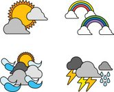 Lightning,Icon Set,Weather Icon,Ilustration,Color Image,Clip Art,Art Product