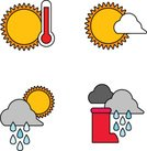 Weather Icon,Weather,Ilustration,Clip Art,Color Image,Art Product