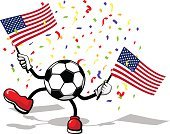 Decoration,Multi Colored,Celebration,Red,Blue,American Culture,Ilustration,Cheerful,The Americas,Party - Social Event,Flag,Sport,Ball,Confetti,USA,Dancing,American Flag,Symbol
