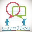 Business,Abstract,Communication,Talking,People,Computer Graphic,Ilustration,Sign,Vector,Men,Symbol,Togetherness,Businessman,Speech,Backgrounds,Meeting,Thinking,Discussion,Occupation