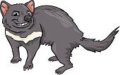 Fun,Humor,Cheerful,Characters,Happiness,Drawing - Art Product,Zoology,Zoo,Cute,Tail,Vector,Wildlife,Cartoon,Animal,Mascot,Living Organism,Ilustration,Tasmanian Devil,Animals In The Wild,Mammal,Marsupial,Clip Art