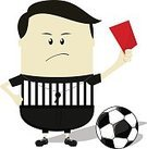 Soccer,Vector,Red Card,Animated Cartoon,Soccer Ball,Isolated,Clip Art,Authority,Referee,Red,Ball,Characters,Sign Language,Judge - Sports Official,Foul,Standing,Whistle