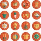 Symbol,Shopping,Computer Icon,Isolated,Ilustration,Vector,Circle,Red,Modern,Infographic,Green Color,Desktop PC,Computer Graphic,Television Set,Information Medium,Yellow,Global Communications,Orange Color,Social Networking,T-Shirt,Cloud - Sky,Single Flower,Silverware,Pen
