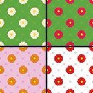Yellow,Polka Dot,Pink Color,Red,oilcloth,Tablecloth,Circle,Daisy,Textile,Pattern,Backdrop,Backgrounds,Outline,Plant,Vector