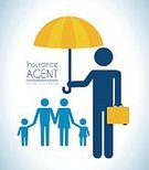 Insurance Agent,Insurance,Family,Symbol,Icon Set,Protection,Umbrella,Ilustration,Safety,Vector,Security,House,Support,Concepts
