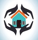 Protection,Human Hand,Symbol,Ilustration,Safety,Icon Set,Vector,Support,Insurance,Concepts,House,Security