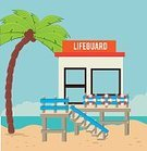Concepts,Advertisement,Tropical Climate,Vacations,Holiday,Ilustration,Vector,Season,Label,Lifeguard,Beach,Summer