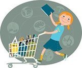 Equipment,Work Tool,Shopping Cart,Education,Retail,Book,Store,Small,Commercial Activity,Buying,Shopping,Child,Cute,Bookstore,Illustration,Cartoon,Girls,Educational Subject,Elementary Age,Vector,Student,Back to School,Preparation,Riding,Elementary School,60361,Business Finance and Industry