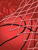 Basketball,Basketball - Sport,Backgrounds,Scoreboard,Net - Sports Equipment,Sport,Red,Ball,Slam Dunk,Sphere,Netting,Winning,Sports Symbols/Metaphors,Sports And Fitness,People In The Background